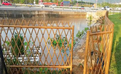 拦河用仿竹护栏